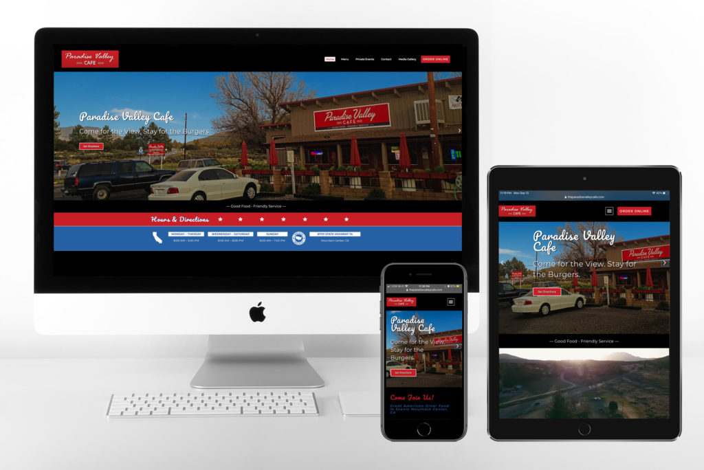 Responsive Website: The Paradise Valley Cafe